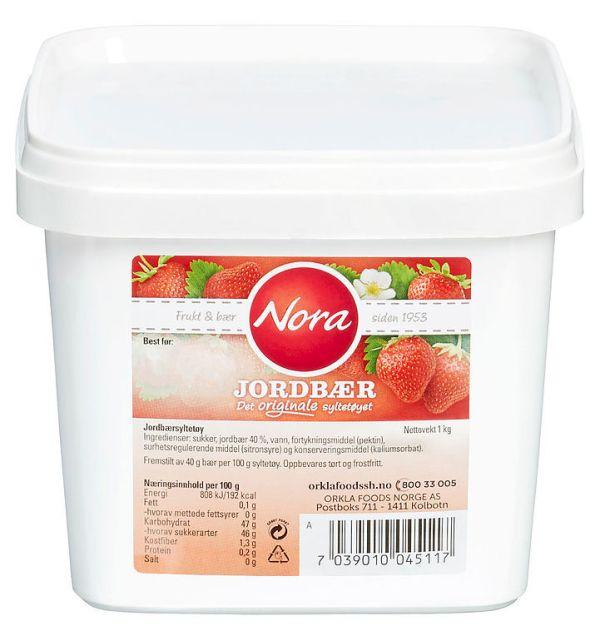 Nora Jordbærsyltetøy 1 kg