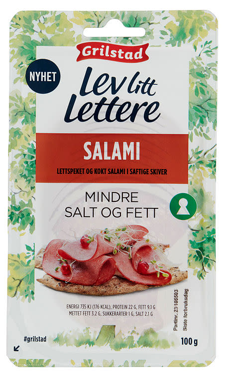 SALAMI LEV LITT LETTERE 100G GRILSTAD