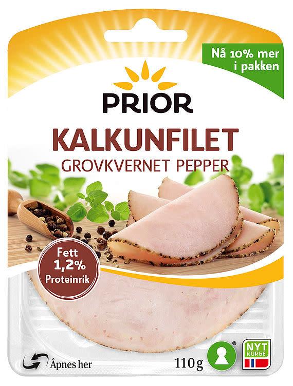 KALKUNFILET GROVKVERNET PEPPER 110G PRIOR