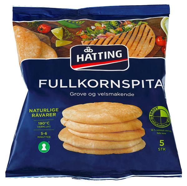 PITABRØD FULLKORN 400G HATTING