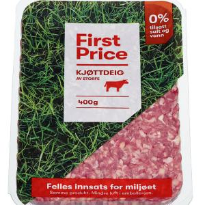 TILBUD: KJØTTDEIG VAKUUMPAKKET 400G FIRST PRICE