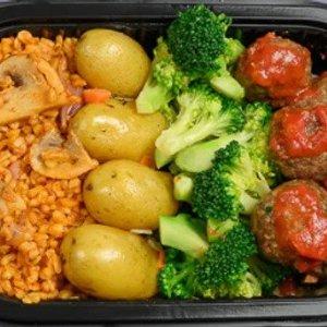 Kjøttboller,brokkoli,potet,bulgur