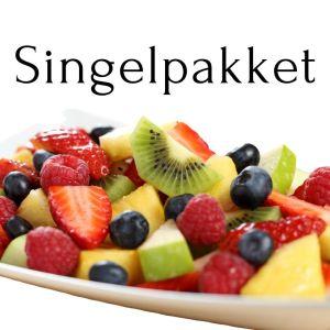 Oppskåret frukt singel pakket