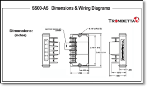 Trombetta's S500A5, A6 and A7 are Electronic Control Modules for DualWinding Solenoid