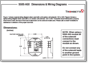 Trombetta's S500A50, A60 and A70 are SolidState Electronic Controls for Single or DualWinding