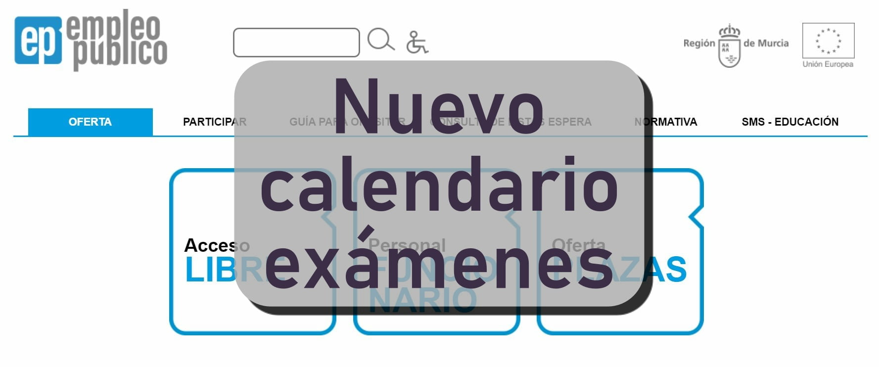 Nuevo calendario de procesos selectivos CARM