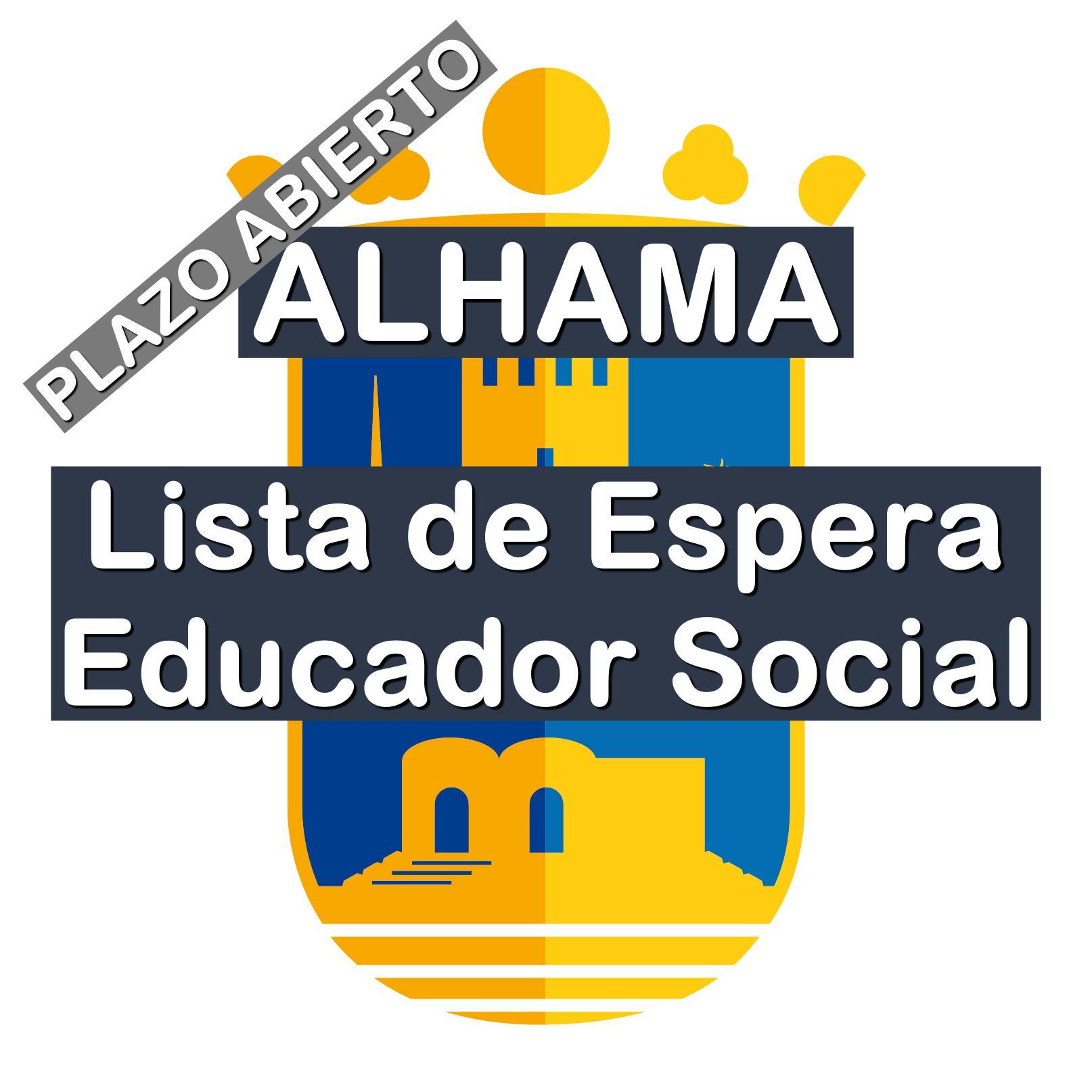 Lista de Espera Educador Social en Alhama