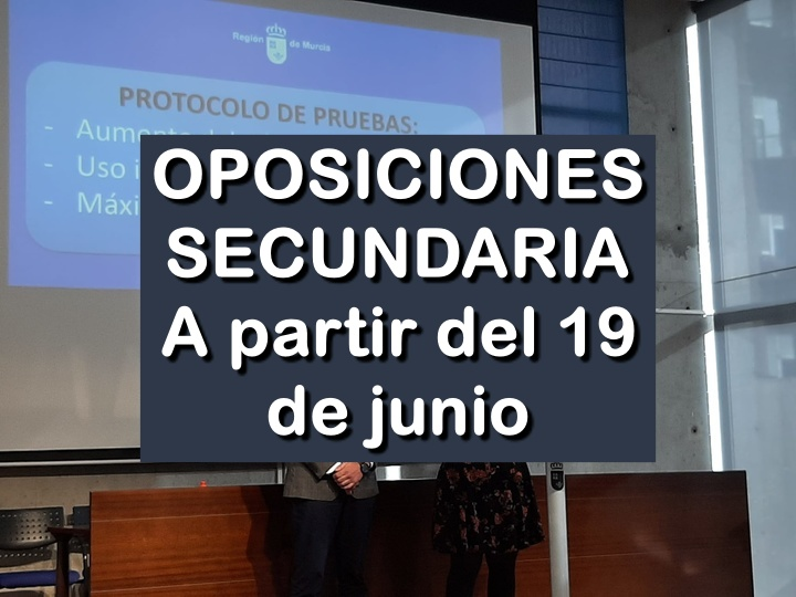 oposiciones a Secundaria en Murcia