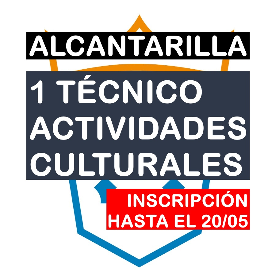 1 Técnico/a de Actividades Culturales en Alcantarilla