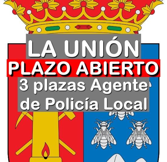 3 plazas Agente de Policía Local en La Unión