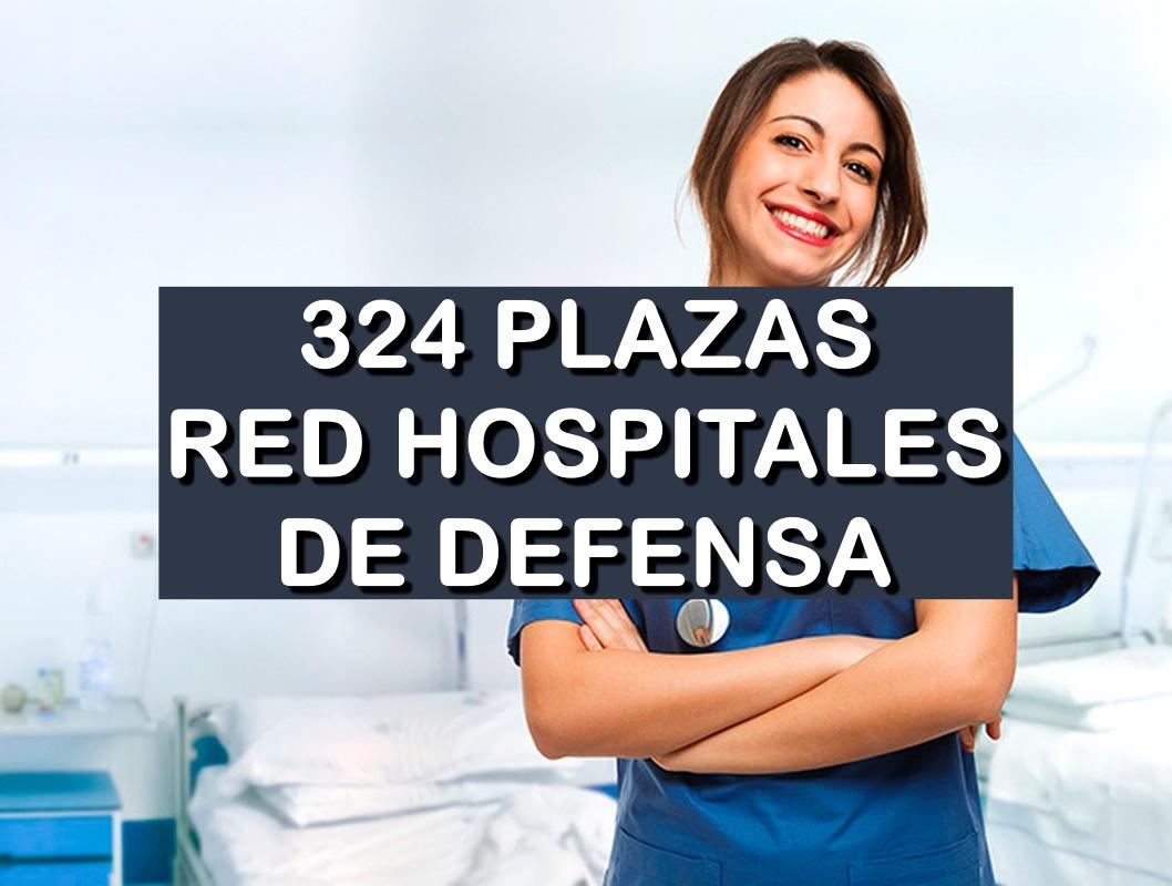 324 plazas convocadas por la red hospitalaria de Defensa