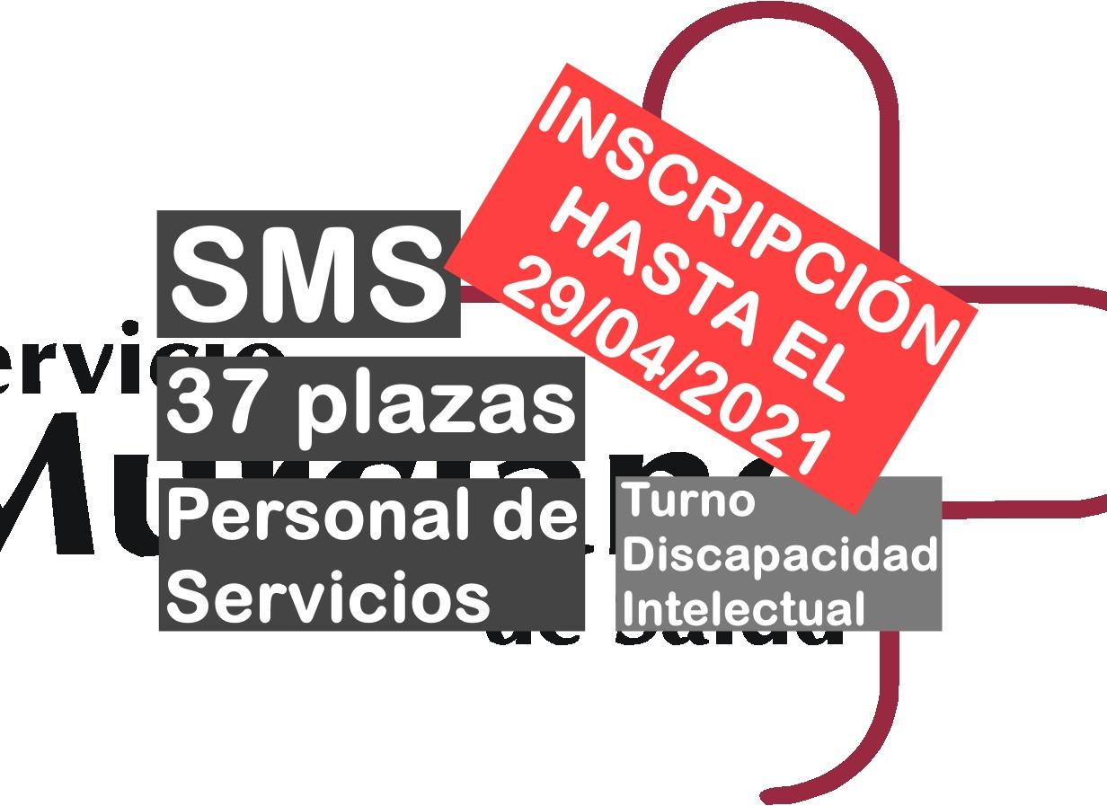 37 plazas Personal de Servicios SMS turno discapacidad intelectual