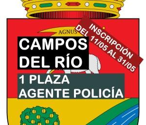 1 plaza Agente Policía Local en Campos del Río