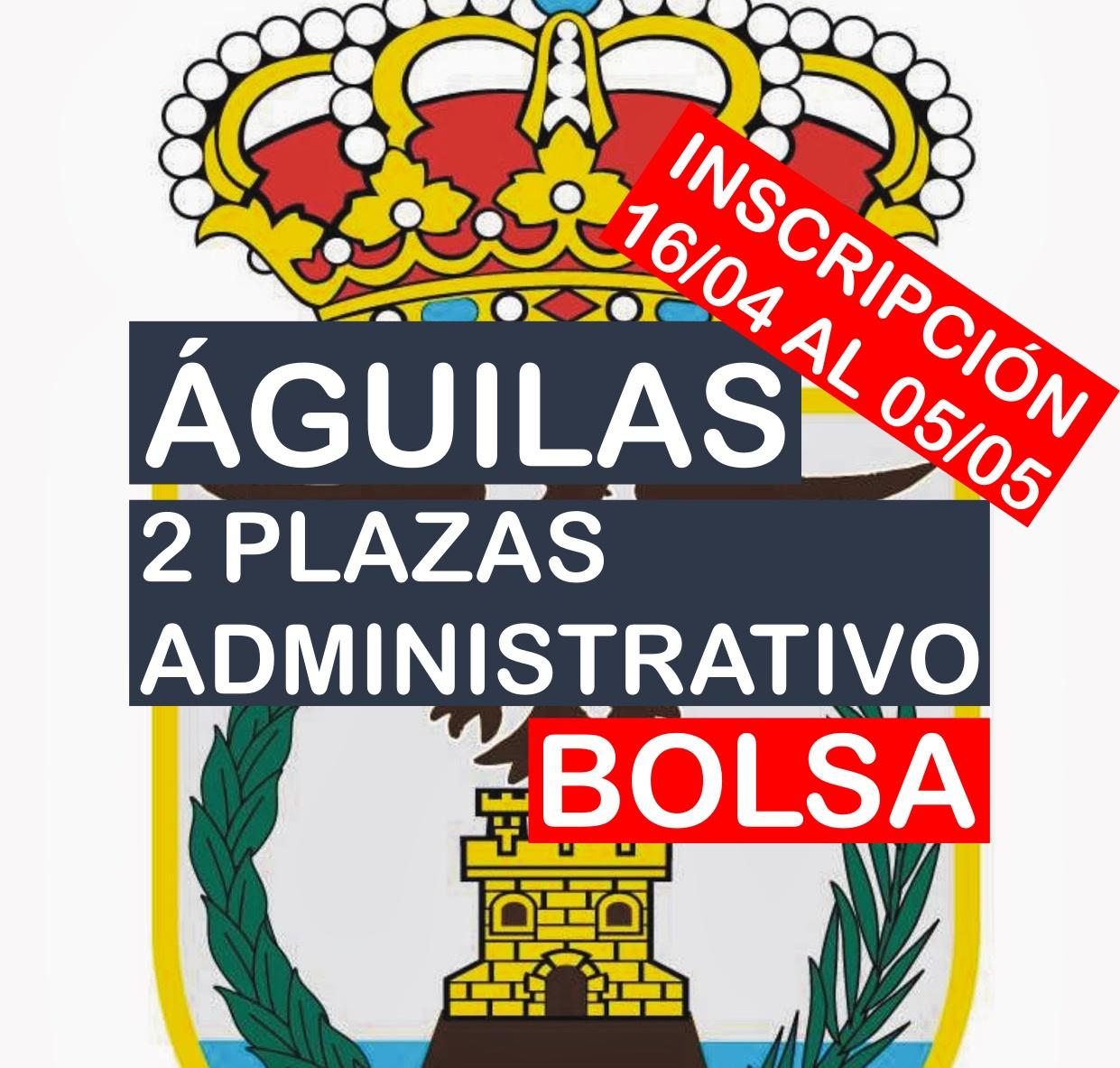 2 plazas de Administrativo del Ayuntamiento de Águilas