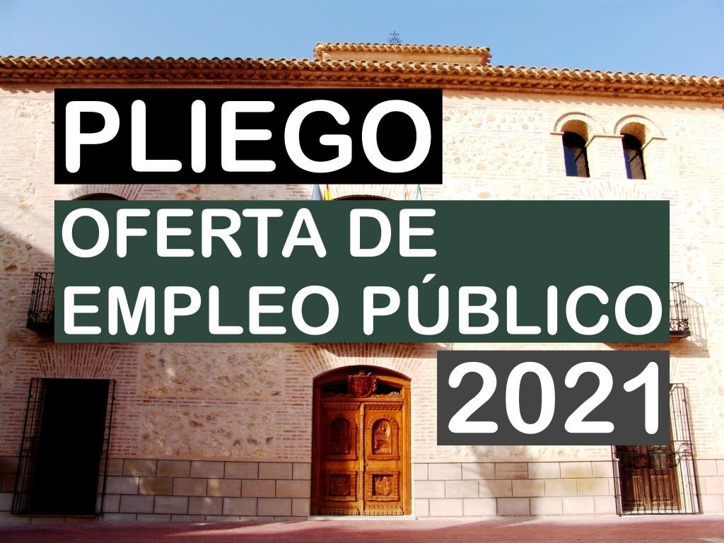 Oferta de empleo público 2021 del Ayuntamiento de Pliego