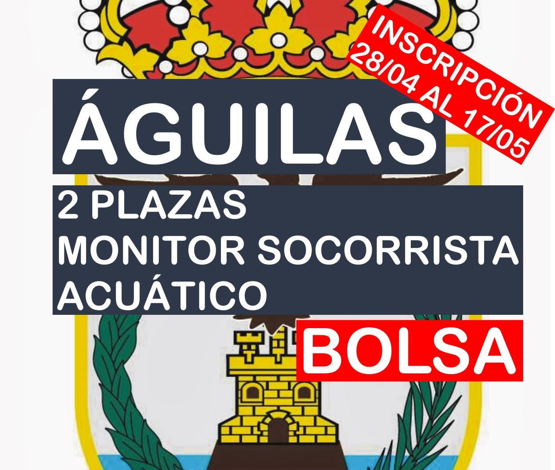 2 plazas de Monitor socorrista acuático del Ayuntamiento de Águilas