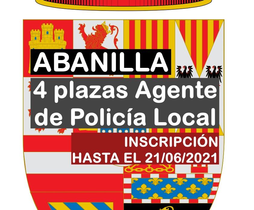4 plazas Agente Policía Local en Abanilla