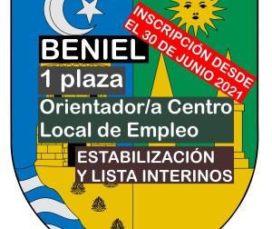 1 Orientador/a Centro Local de Empleo en Beniel