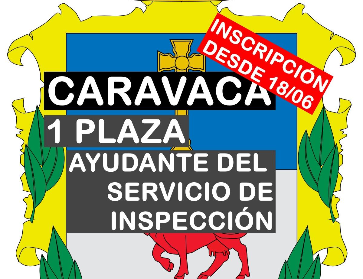 1 Ayudante del Servicio de Inspección en Caravaca