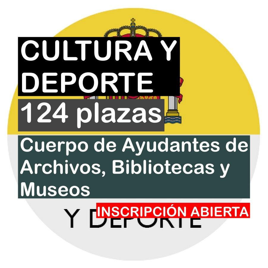 124 plazas Cuerpo de Ayudantes de Archivos