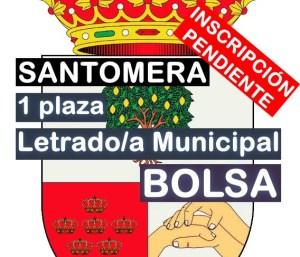 1 Letrado/a municipal y bolsa en Santomera