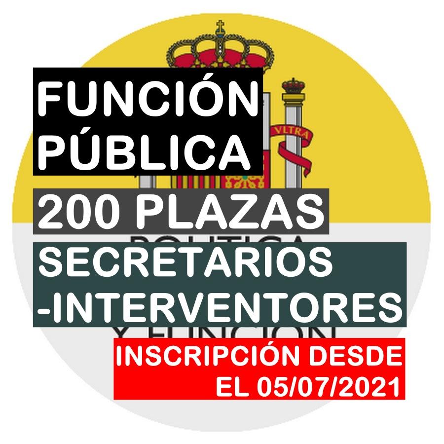200 PLAZAS SECRETARIO-INTERVENTOR