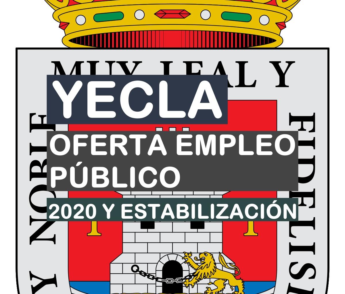 Oferta de empleo público 2020 del Ayuntamiento de Yecla