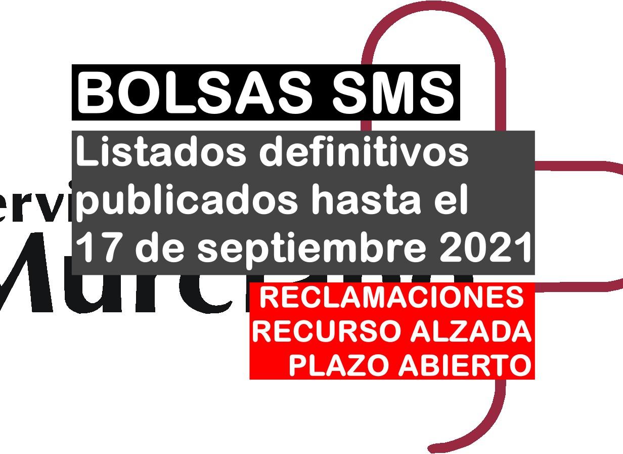 Relaciones definitivas de bolsas del SMS publicadas hasta el 17 de septiembre de 2021