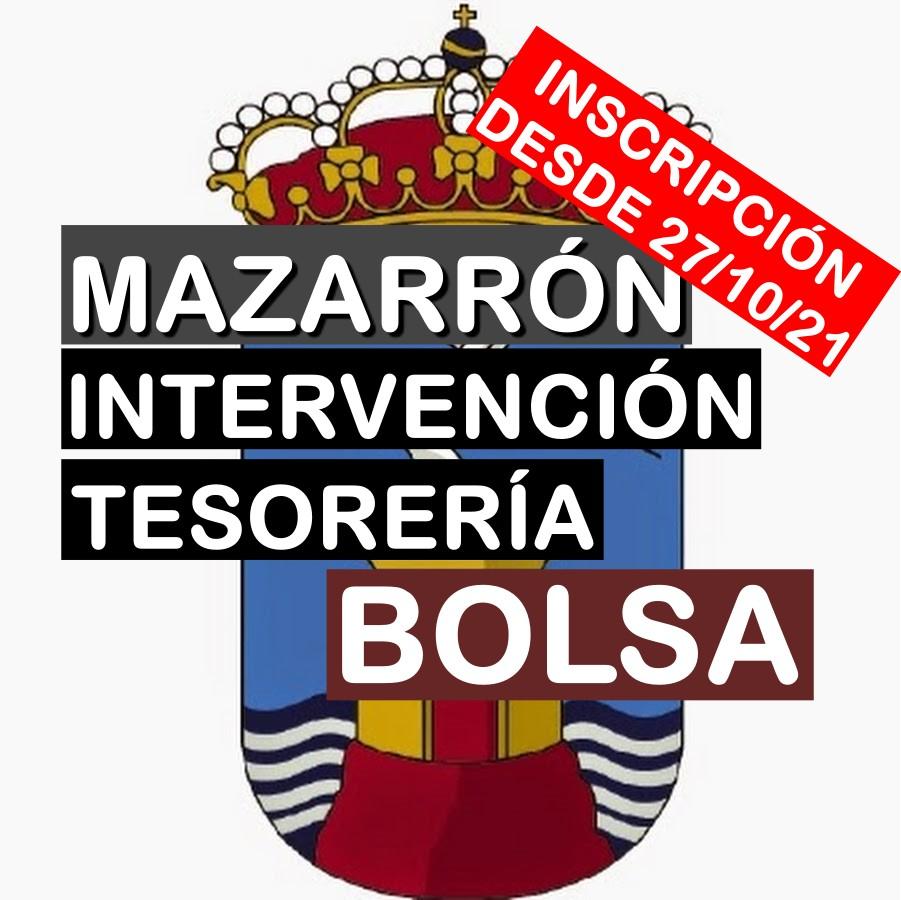 2 Bolsas para Intervención y Tesorería en Mazarrón