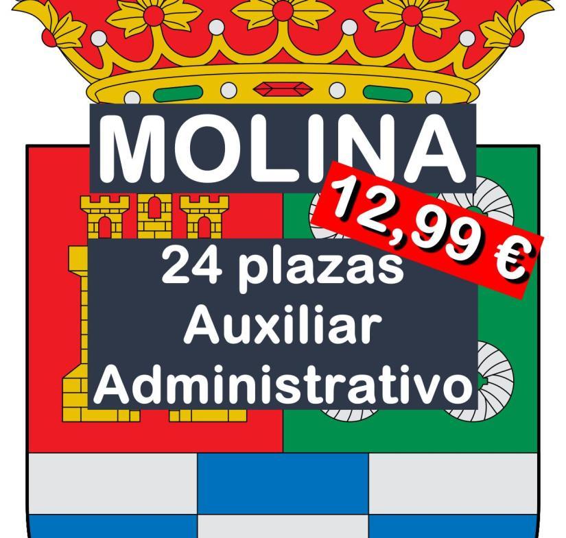 24 plazas de Auxiliar Administrativo en Molina de Segura