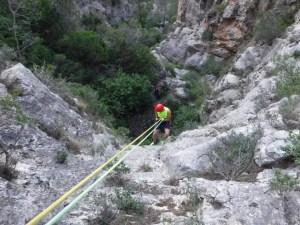 Barranquismo en Murcia seco