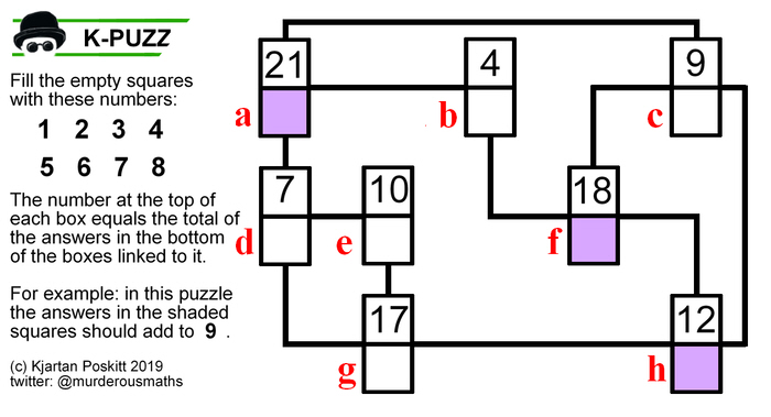 Murderous Maths: The K-PUZZ logic puzzles