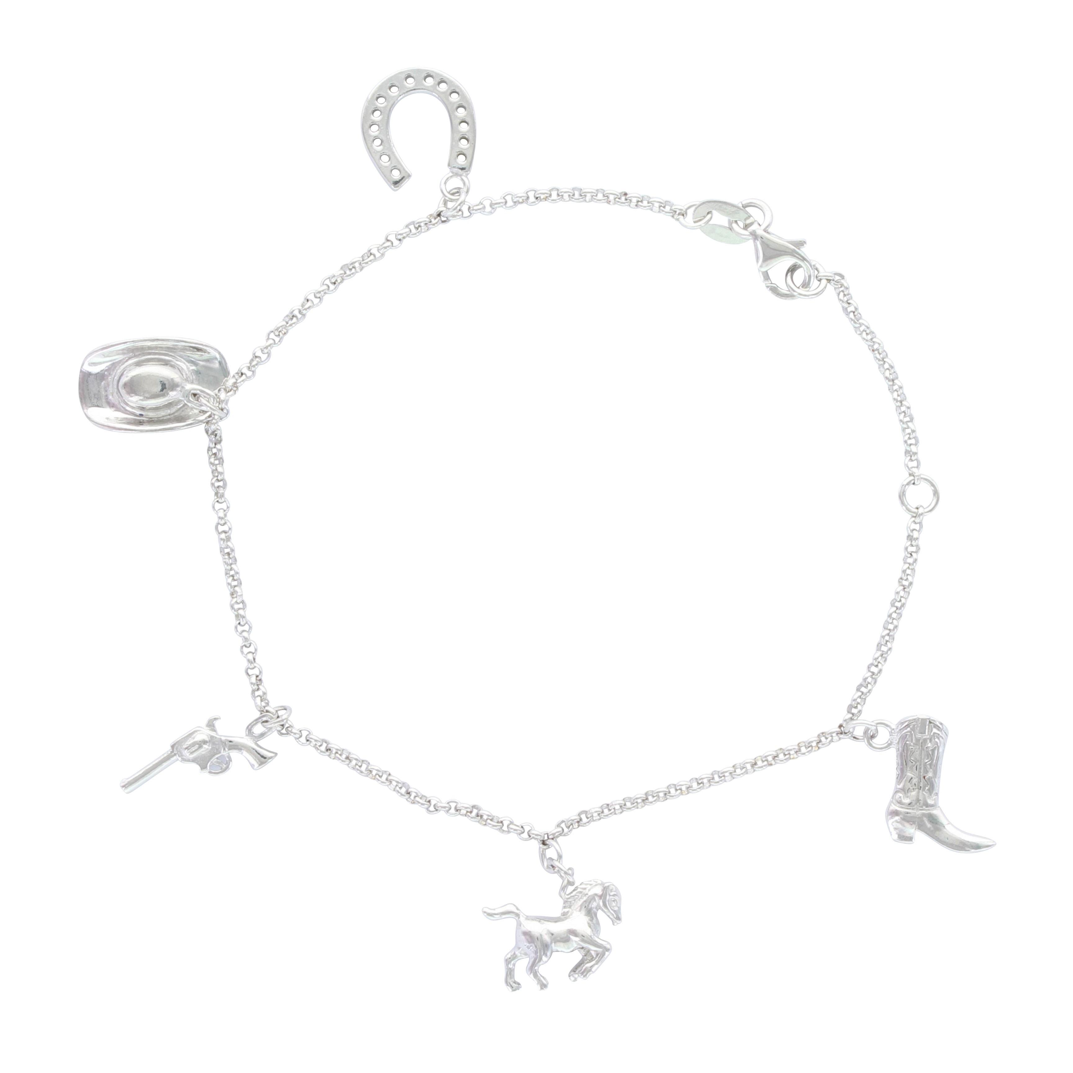 Symbols of the West Charm Bracelet