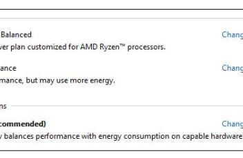 Ryzen power plan