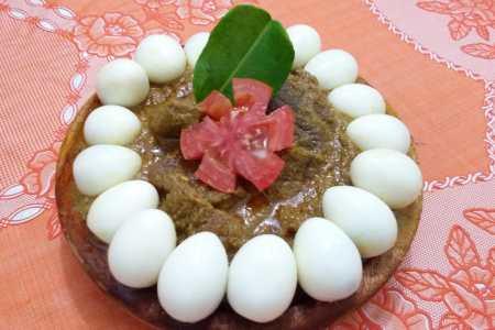 Rendang Daging Telur Puyuh Bumbu Rempah