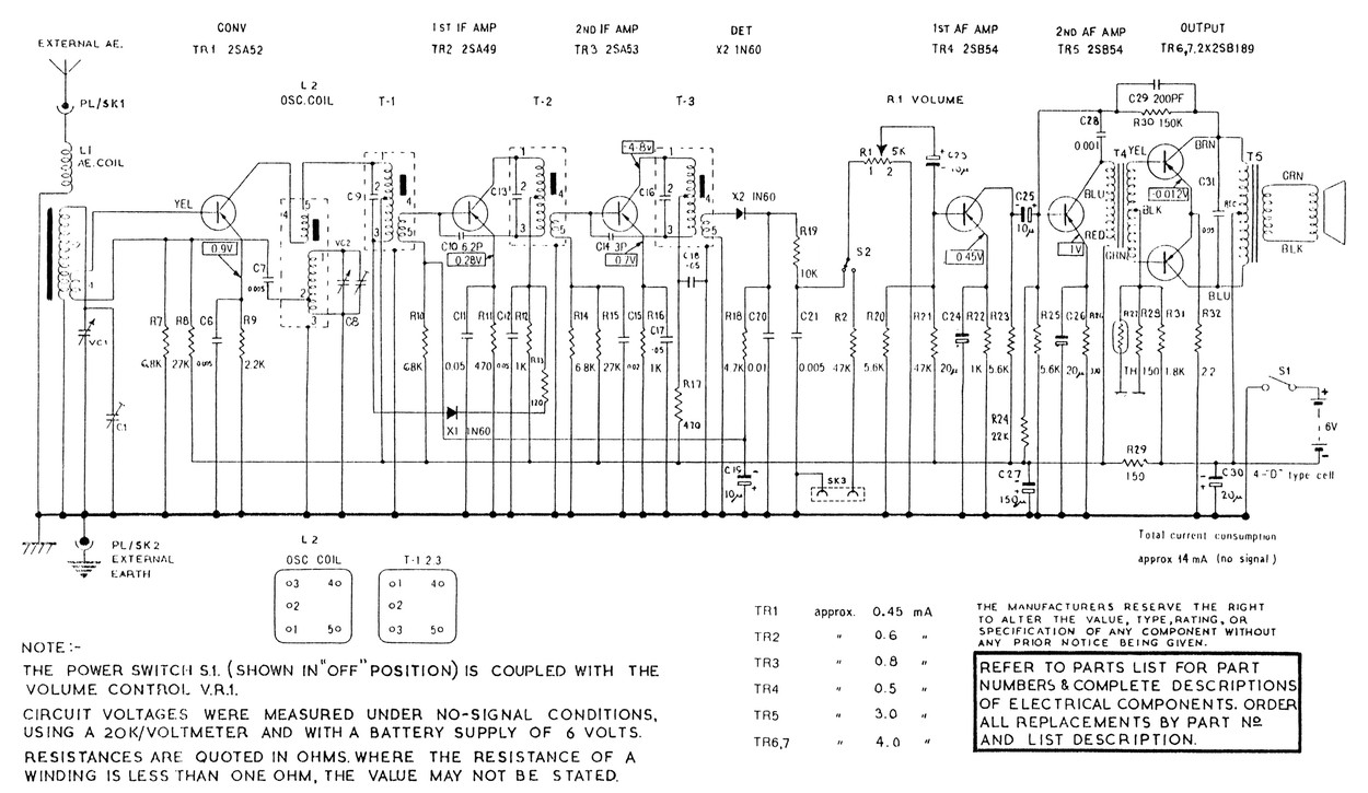 hight resolution of from the p83 circuit the two sets appear to use the same printed circuit board i can only guess that this model dates from late 1961 presumably after