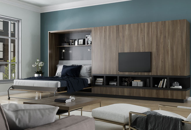 murphy bed in small living room discount rooms beds wall lifestyles space saving ideas prev