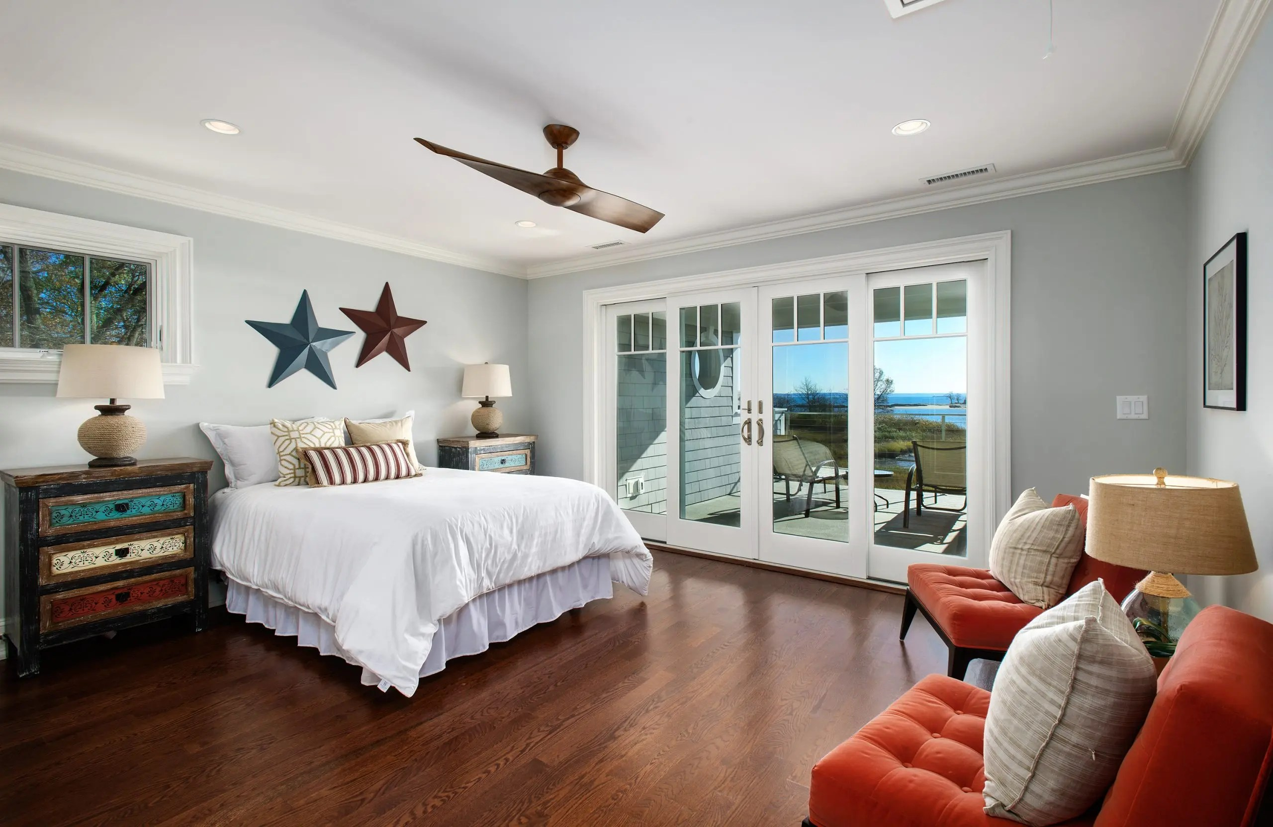 21- Spacious Guest Bedroom with Private Covered Deck