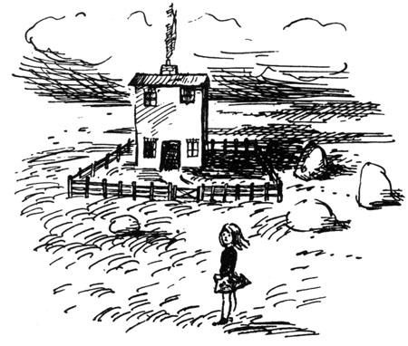 Marianne in the dream-world. Illustration by Marjorie-Ann Watts