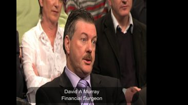 Financial Accountant, David A Murray, in Questions & Answers TV debate