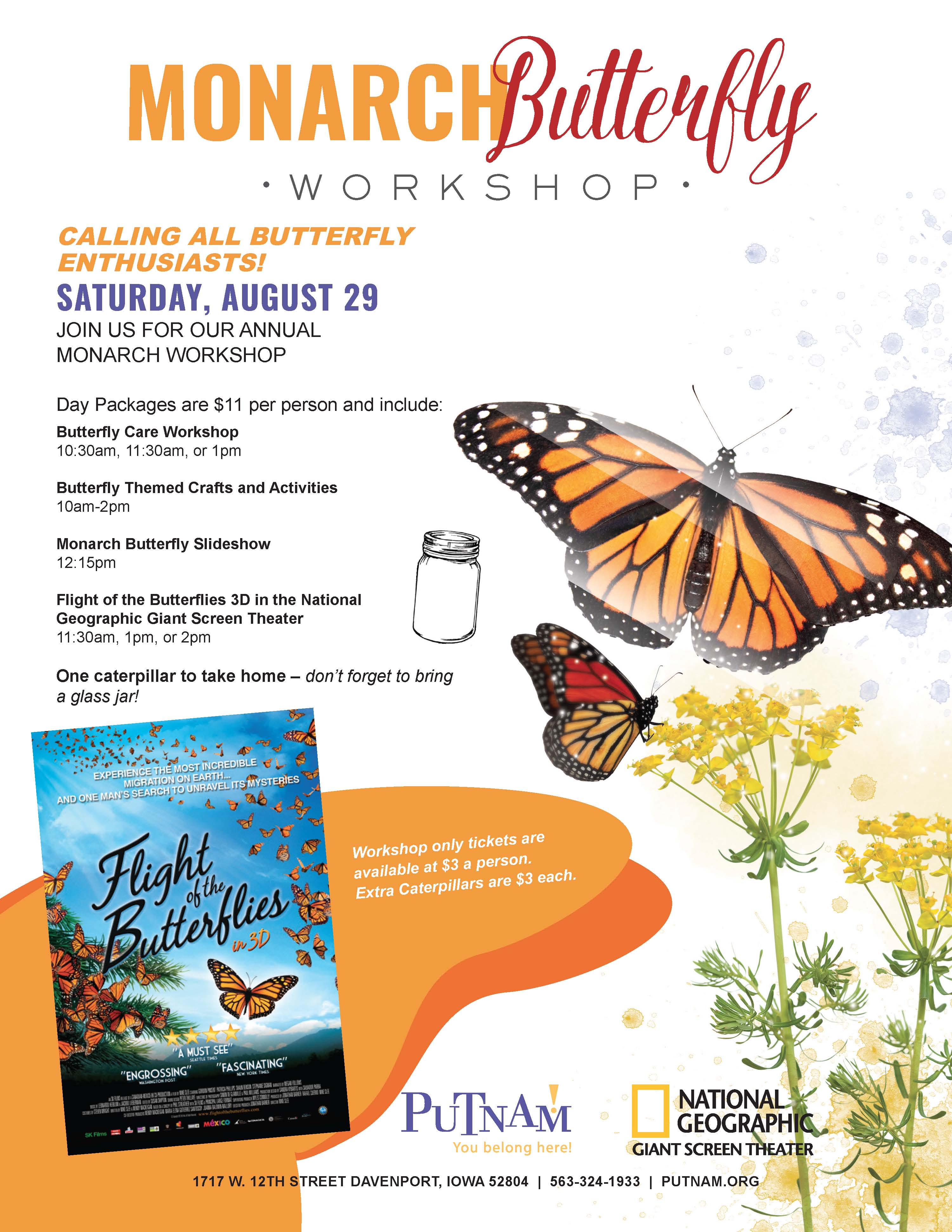 Putnam Monarch Butterfly Workshop