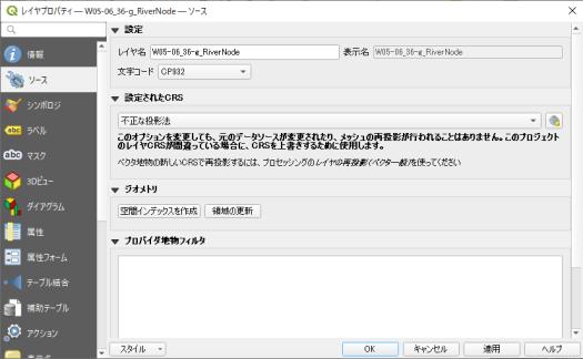文字コードがCP932となっている