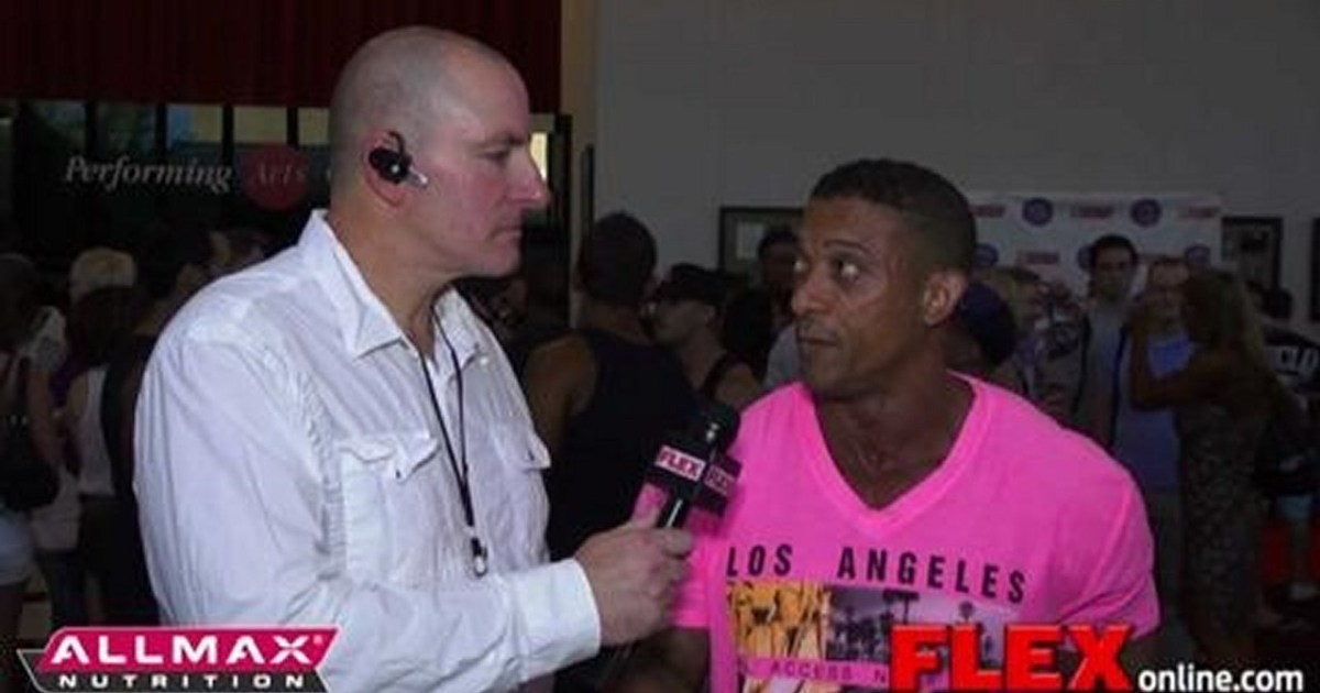 Chad Nicholls Interviews IFBB Pro Troy Alves at the 2012 USA's   Muscle & Fitness