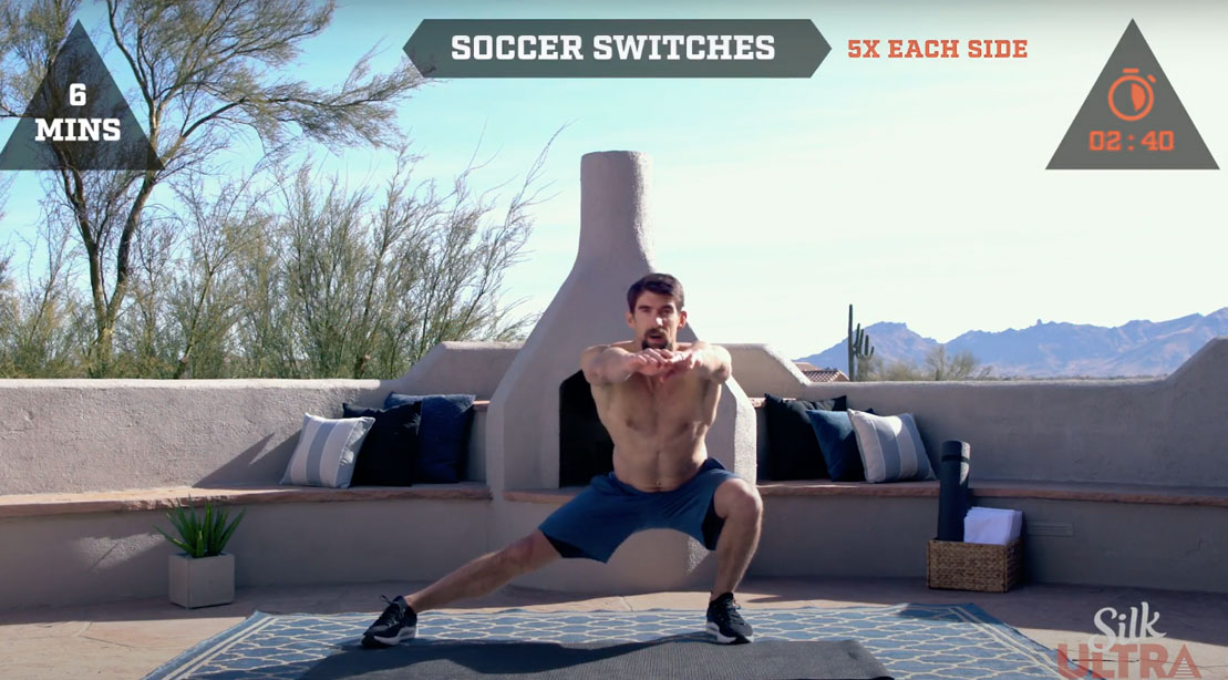 Michael Phelps training and working out at home and outside