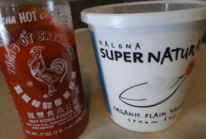Sriracha and Greek Yogurt
