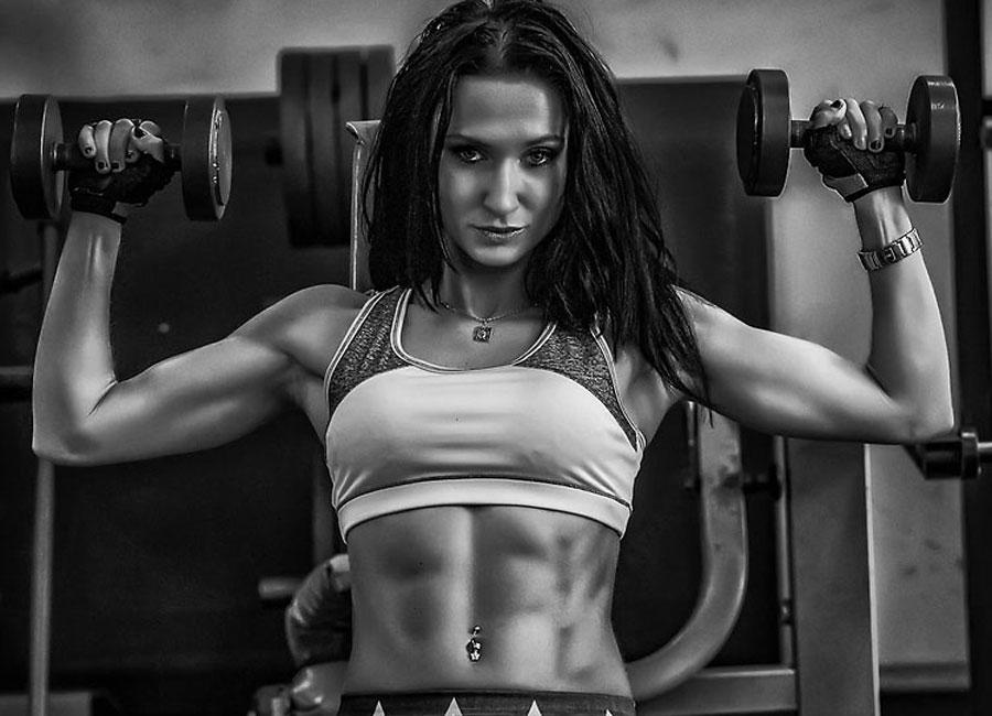 muscular gym lover prettygirlamanda