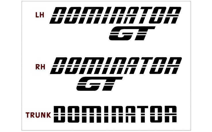 *1983 Mustang Dominator GT Decal Set
