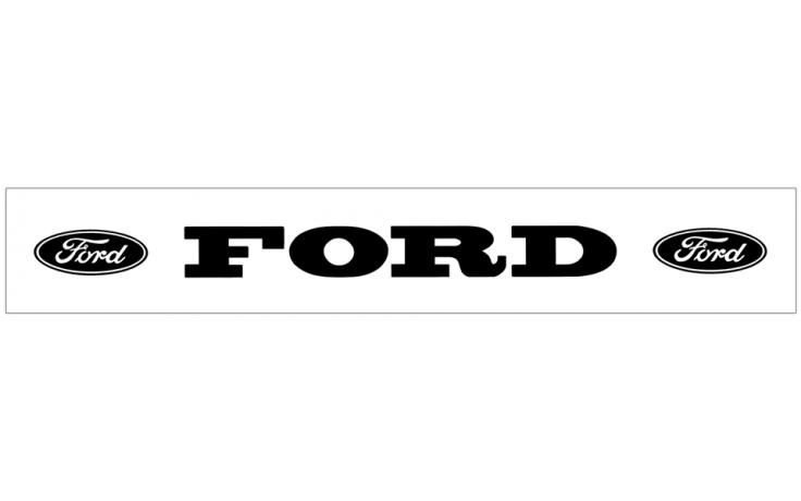 Ford with Ovals Windshield Decal