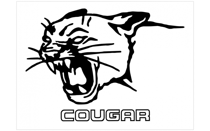 Cougar Head with Cougar Name Decal