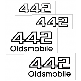 1987 Oldsmobile 442 Decal Kit Names for Doors Trunk and Nose